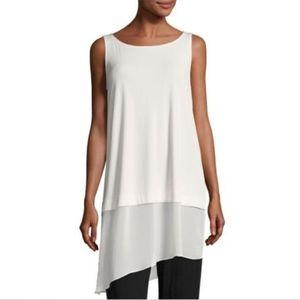 Eileen Fisher Silk Sleeveless Tunic Top
